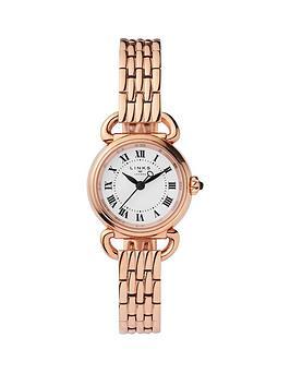 links-of-london-links-of-london-rose-gold-tone-stainless-steel-bracelet-mini-driver-ladies-watch