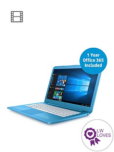 hp-stream-14-ax000na-intel-celeron-4gbnbspramnbsp32gb-storagenbsp14-inch-laptop-includes-microsoft-office-365-personal-with-optional-mcafeenbsplifesafe-aqua-blue