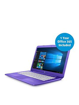 Hp Stream 14Ax002Na Intel&Reg Celeron&Reg Processor 4Gb Ram 32Gb Storage 14 Inch Laptop With 12 Months Office 365 Personal And 1Tb Onedrive Cloud Storage  Purple  Laptop With Mcafee Livesafe A