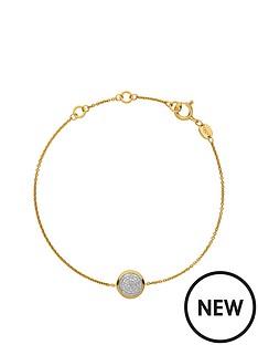 links-of-london-links-of-london-sterling-silver-18kt-gold-plated-diamond-set-round-bracelet