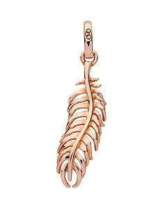 links-of-london-links-of-london-sterling-silver-rose-gold-plate-feather-wisdom-charm