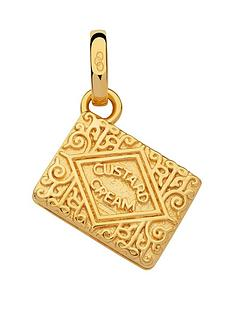links-of-london-links-of-london-sterling-silver-18kt-gold-plate-custard-cream-biscuit-charm