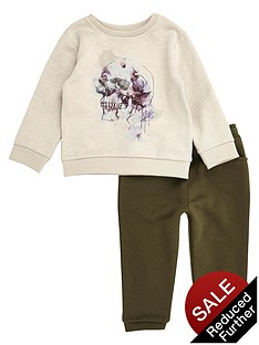 river-island-mini-boys-skull-embossed-sweat-top-and-joggers