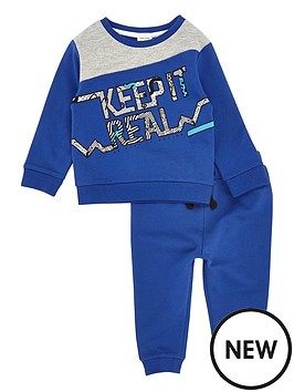 river-island-mini-boys-slogan-sweat-top-and-joggers-set