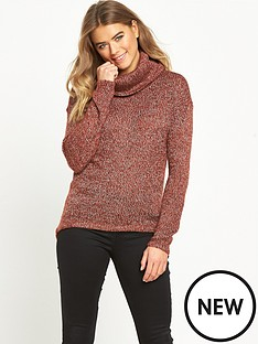 vero-moda-jive-cowl-neck-jumper-red