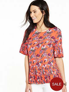 v-by-very-pleated-hem-sleeve-blouse