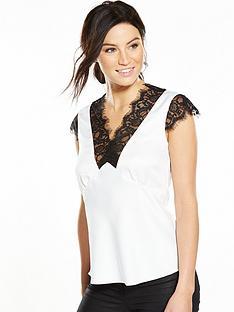 v-by-very-lace-trim-v-neck-blouse