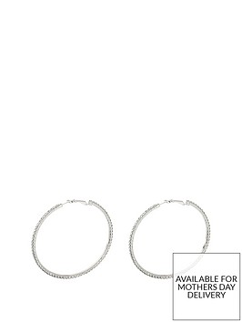 silver-tone-diamanteacutenbsplarge-50mm-hoops