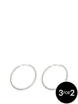 silver-tone-diamanteacutenbsplarge-50mm-hoops