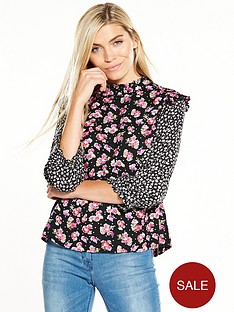 v-by-very-frill-printed-blouse