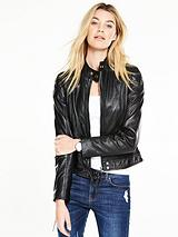 Motocross Leather Biker Jacket