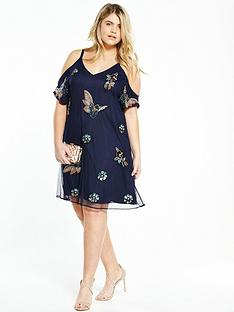 so-fabulous-embellished-cold-shoulder-dressnbsp--navy