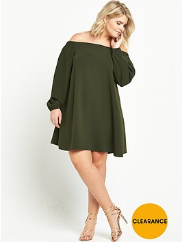 ri-plus-bardot-dress-khaki