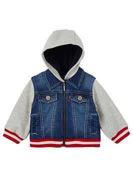 LeviS Hooded Sweat Denim Jacket