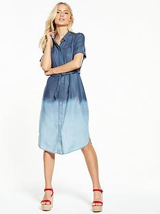 v-by-very-denim-ombre-raw-edge-dress