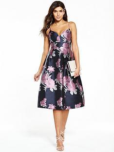 v-by-very-floral-jacquard-midi-dress