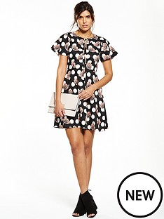 v-by-very-angel-sleeve-print-dress
