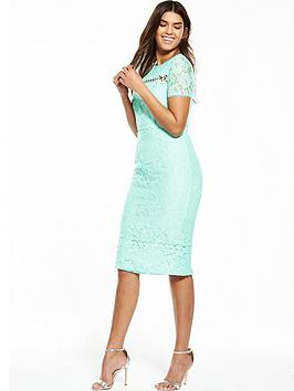 V By Very Lace Detail Midi Dress
