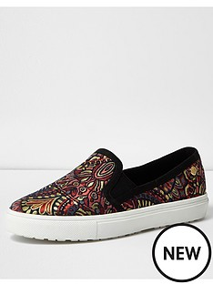 river-island-jacquard-print-slip-on