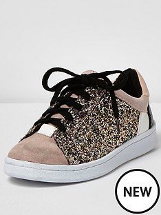 river-island-river-island-glitter-mixed-material-lace-up