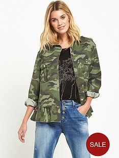 replay-camo-peplum-jacket