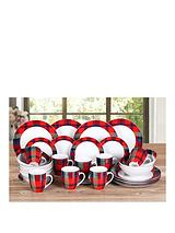 Red Tartan 32-piece Dinner