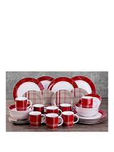 Highland Tartan 32-piece Dinner Set