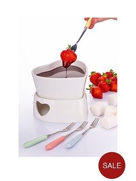 heart-fondue-set