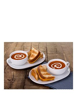 WATERSIDE Waterside Soup And Snack Trays - Set Of 2 Picture