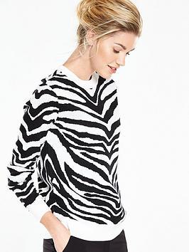V By Very Zebra Jacquard Jumper