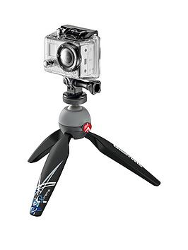 Manfrotto Pixi Xtreme Tripod With Gopro Adapter  Black