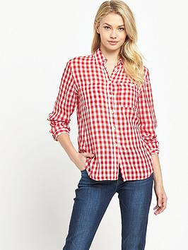 Denim & Supply  Ralph Lauren Utility Long Sleeved Shirt  Mcpherson Check Red