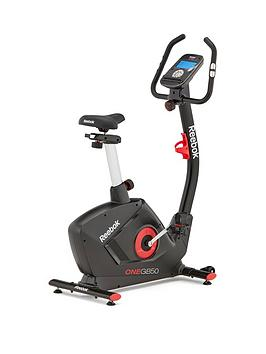 Reebok Gb50 One Series Exercise Bike  Black With Red Trim