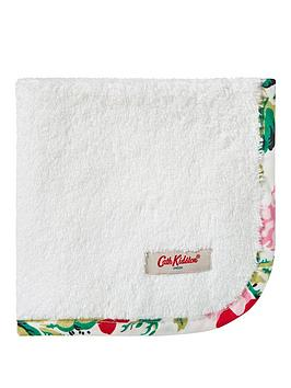Cath Kidston Pack Of 2 Antique Rose Band Face Cloths