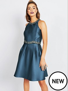 little-mistress-little-mistress-teal-2-in-1-midi-dress-with-embellishment