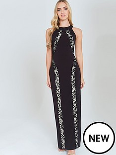 paper-dolls-contrast-lace-panel-maxi-dress-black