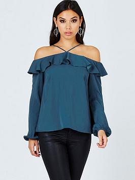 girls-on-film-girls-on-film-teal-off-the-shoulder-top-with-ruffles