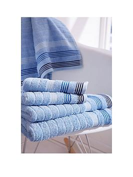 Catherine Lansfield Garrett Stripe Bath Sheet &Ndash; Set Of 2