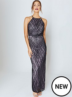 little-mistress-little-mistress-black-and-mink-sequin-maxi-dress