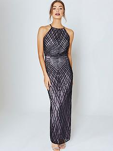 little-mistress-sequin-maxi-dress-blackmink