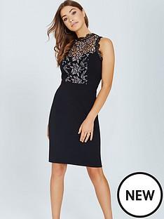 little-mistress-little-mistress-black-bodycon-dress-with-lace-panel