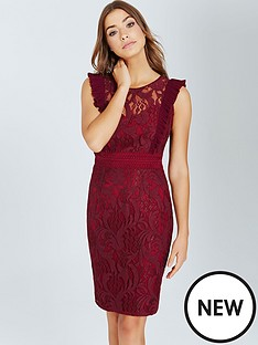 little-mistress-little-mistress-maroon-lace-bodycon-dress-with-ruffle
