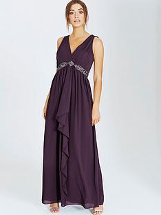 little-mistress-little-mistress-purple-embellished-maxi-with-tie-back