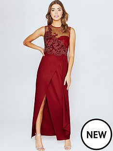 little-mistress-lace-appliqueacutenbspmaxi-dress--nbspscarlet-rednbsp
