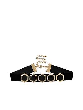 river-island-hexagon-jewel-detail-choker
