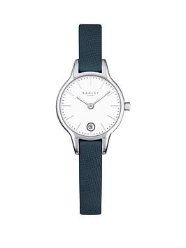 radley-radley-long-acre-white-date-dial-blue-leather-strap-ladies-watch