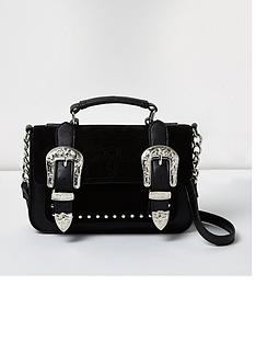 river-island-western-buckle-styling-satchel-bag-black