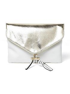 river-island-river-island-zip-around-metallic-envelope-clutch
