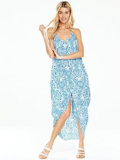 v-by-very-prairie-print-cocoon-beach-dress-bluenbsp