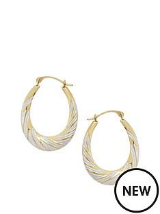 love-gold-9ct-2-tone-hoop-earrings